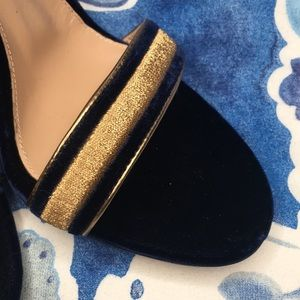 1e3823d4eea0 Gianvito Rossi Shoes - Gianvito Rossi Augusta sandals navy gold suede 6